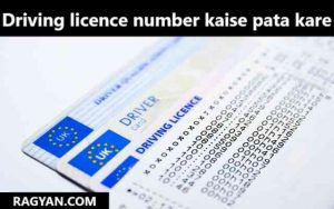 driving licence number kaise pata kare